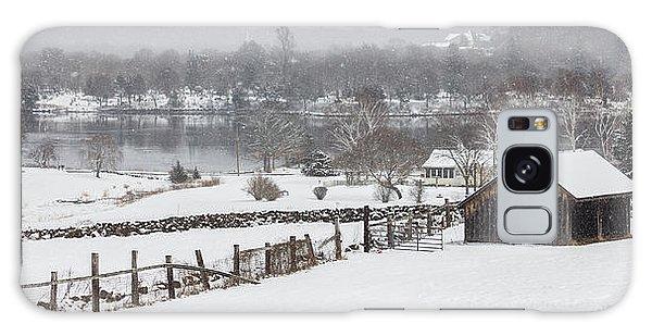 Mystic River Winter Landscape Galaxy Case