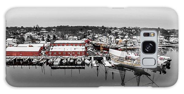Mystic Seaport In Winter Galaxy Case