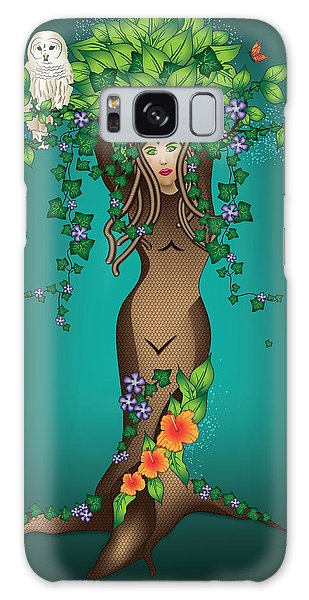 Mystical Maiden Tree Galaxy Case by Serena King