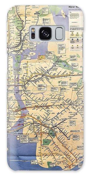 Galaxy Case - N Y C Subway Map by Rob Hans