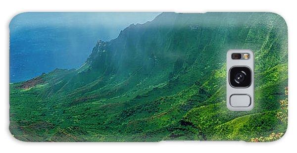 na Pali coast Kailua lookout kauai Hawaii Galaxy Case