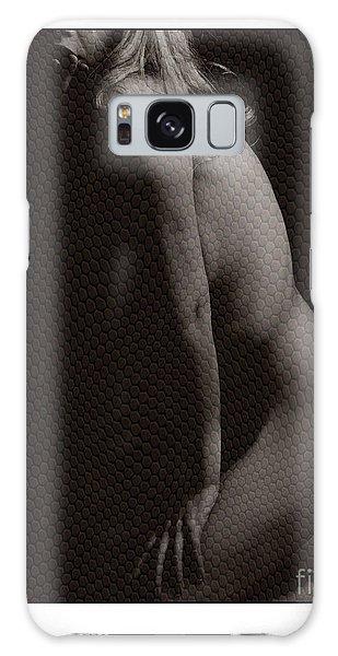Naked Girl In Studio Galaxy Case