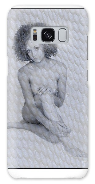 Naked Girl With Curly Hair Galaxy Case