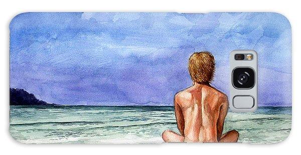 Naked Male Sleepy Ocean Galaxy Case