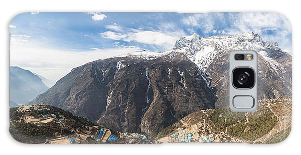 Namche Bazar Panorama Galaxy Case
