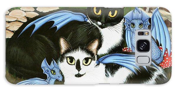 Nami And Rookia's Dragons - Tuxedo Cats Galaxy Case
