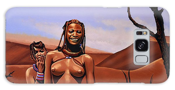 Scenery Galaxy Case - Himba Girls Of Namibia by Paul Meijering