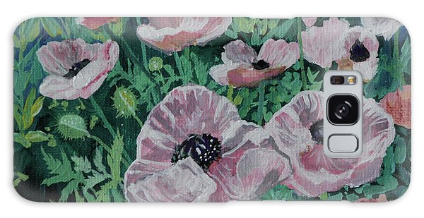 Galaxy Case featuring the painting Nancy's Poppies by Robin Maria Pedrero