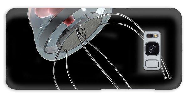 Biomedical Engineering Galaxy Case - Nanobot Illustration On Black by Stocktrek Images