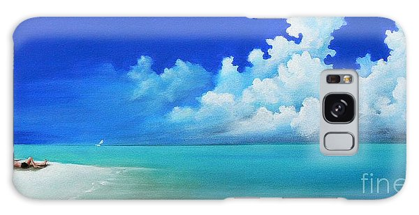 Nap On The Beach Galaxy Case
