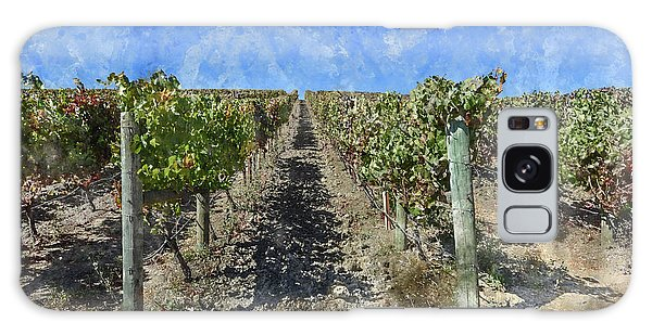 Napa Valley Vineyard - Rows Of Grapes Galaxy Case