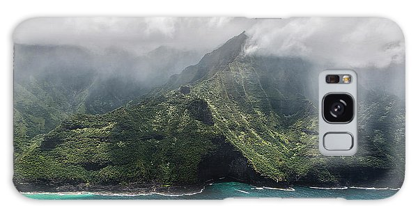 Napali Coast In Clouds And Fog Galaxy Case