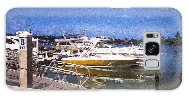 Naples Dock Galaxy Case by Rena Trepanier