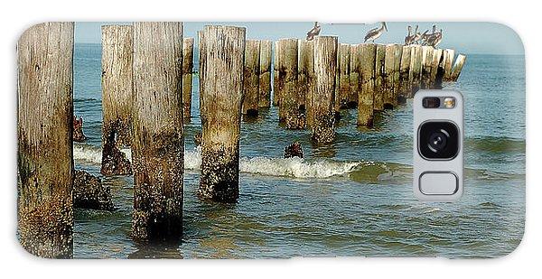 Naples Pier And Pelicans Galaxy Case