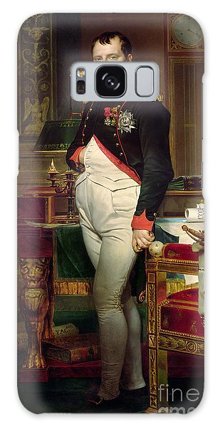 Clock Galaxy Case - Napoleon Bonaparte In His Study At The Tuileries, 1812 by Jacques Louis David