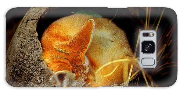 Napping Fennec Fox Galaxy Case by Greg Slocum