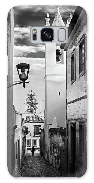 Galaxy Case featuring the photograph Narrow Street And Bell Tower In Tavira - Portugal by Barry O Carroll