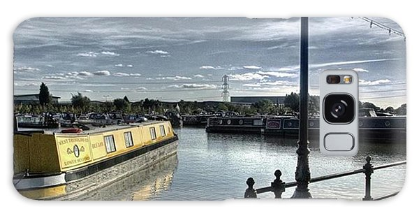 Narrowboat Idly Dan At Barton Marina On Galaxy Case by John Edwards
