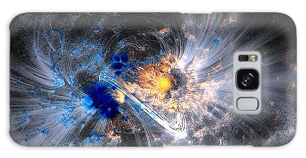 Galaxy Case featuring the photograph Nasa Coronal Loops Over A Sunspot Group by Rose Santuci-Sofranko