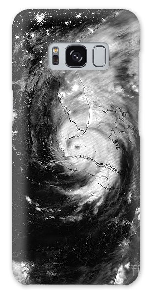 Galaxy Case featuring the photograph Nasa Hurricane Irma Between Cuba And Florida Satellite Image by Rose Santuci-Sofranko