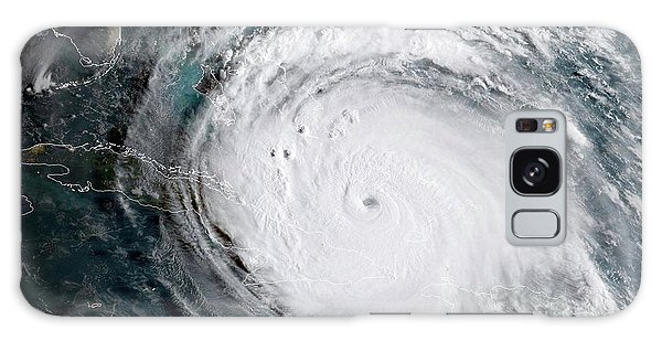 Galaxy Case featuring the photograph Nasa Hurricane Irma Satellite Image by Rose Santuci-Sofranko