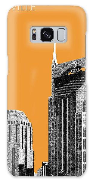 Nashville Skyline At And T Batman Building - Orange Galaxy Case