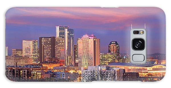 Nashville Skyline At Dusk 2018 Panorama Color Galaxy Case