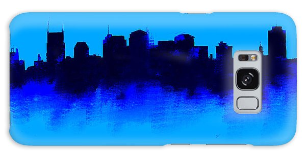 Nashville  Skyline Blue  Galaxy Case by Enki Art
