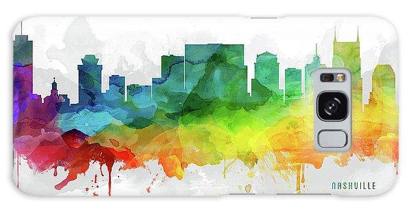 Nashville Skyline Mmr-ustnna05 Galaxy Case by Aged Pixel