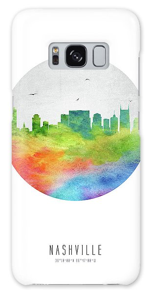 Nashville Skyline Ustnna20 Galaxy Case by Aged Pixel