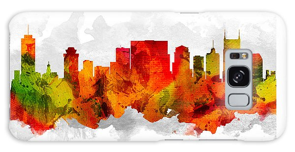 Nashville Tennessee Cityscape 15 Galaxy Case by Aged Pixel