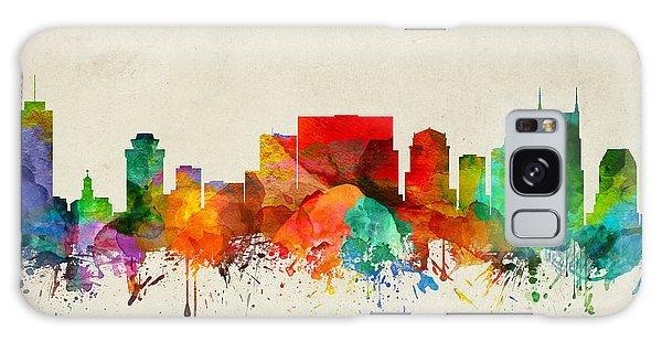 Nashville Tennessee Skyline 22 Galaxy Case by Aged Pixel