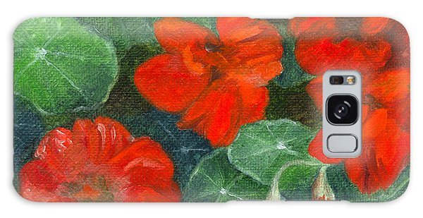 Nasturtiums Galaxy Case