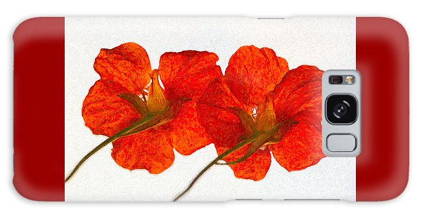 Nasturtiums On White Galaxy Case