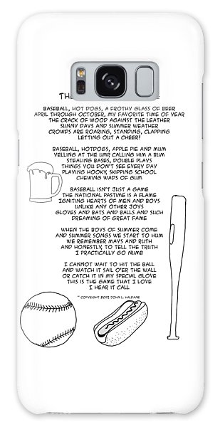 Galaxy Case featuring the drawing National Pastime by John Haldane