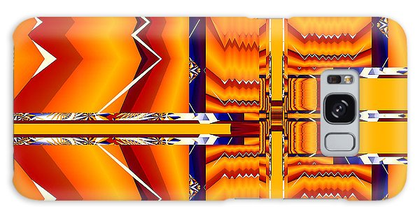 Galaxy Case featuring the digital art Native Abstract by Fran Riley