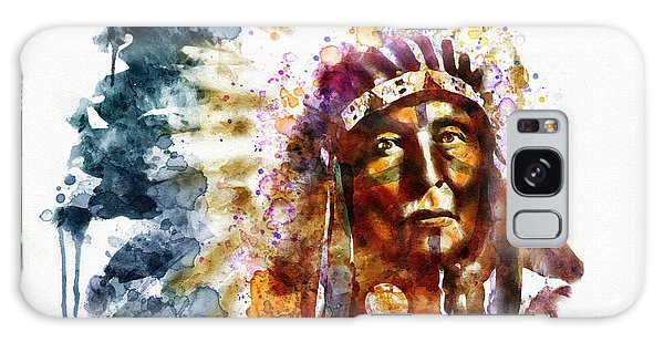 Native American Chief Galaxy Case by Marian Voicu