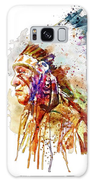 Native American Chief Side Face Galaxy Case