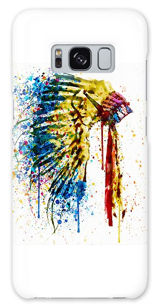 Native American Feather Headdress   Galaxy Case by Marian Voicu