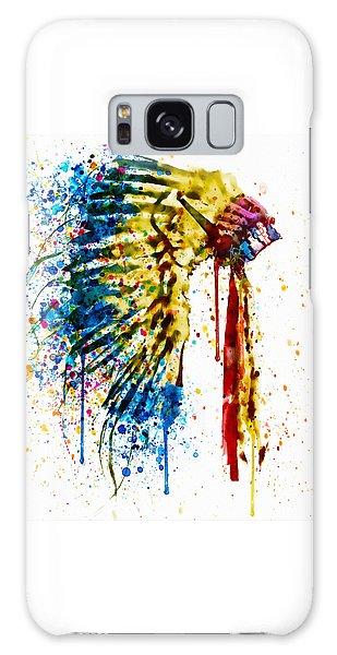 Native American Feather Headdress   Galaxy Case