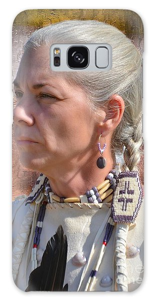 Native American Woman Galaxy Case by Kathy Baccari