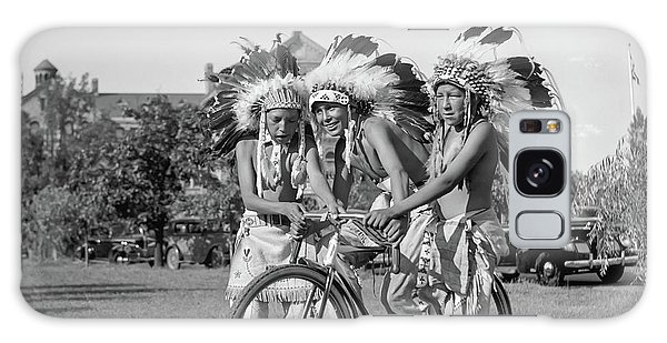 Native Americans With Bicycle Galaxy Case
