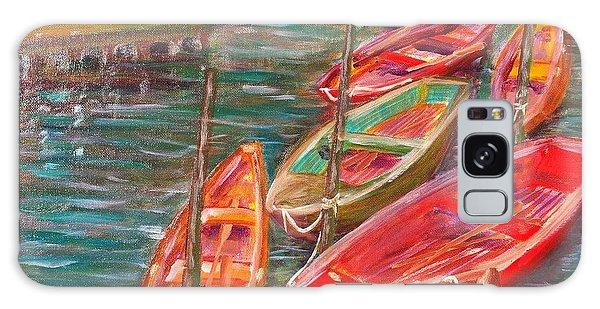 Native Fishing Boats Galaxy Case