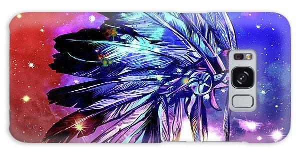 Feather Stars Galaxy Case - Native Headdress Space by Bekim M