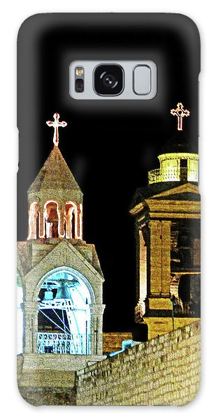 Nativity Church Lights Galaxy Case