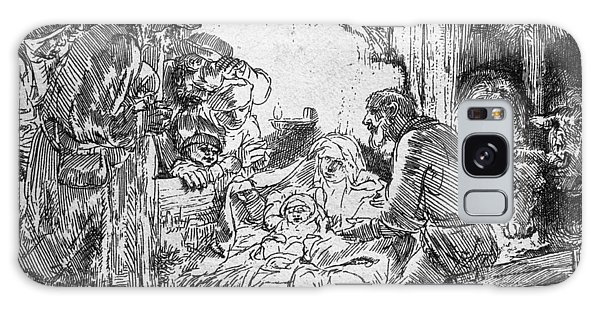 Pen And Ink Drawing Galaxy Case - Nativity by Rembrandt