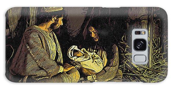 Nativity Scene Galaxy Case