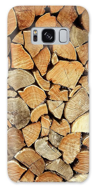 Natural Wood Galaxy Case by AugenWerk Susann Serfezi