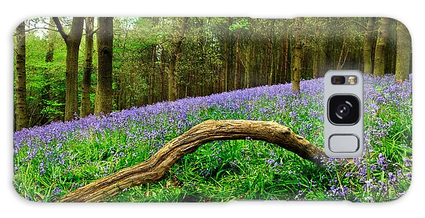 Bluebell Galaxy Case - Natural Arch And Bluebells by John Edwards