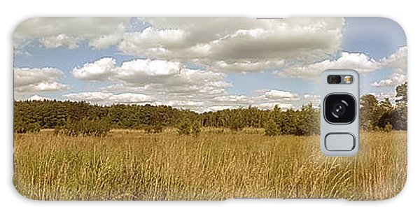 Natural Meadow Landscape Panorama. Galaxy Case